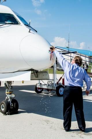 Saab Christening in Cayman Brac